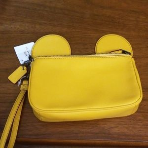 NWT Coach X Disney Mickey Mouse ears Leather